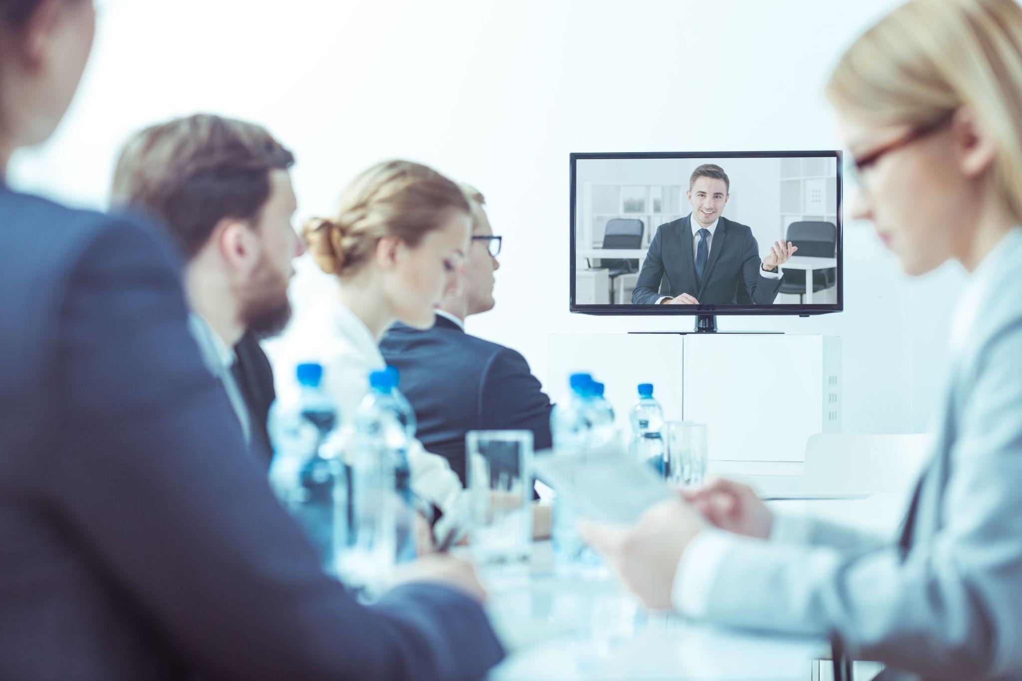 Видеоконференция в офисе